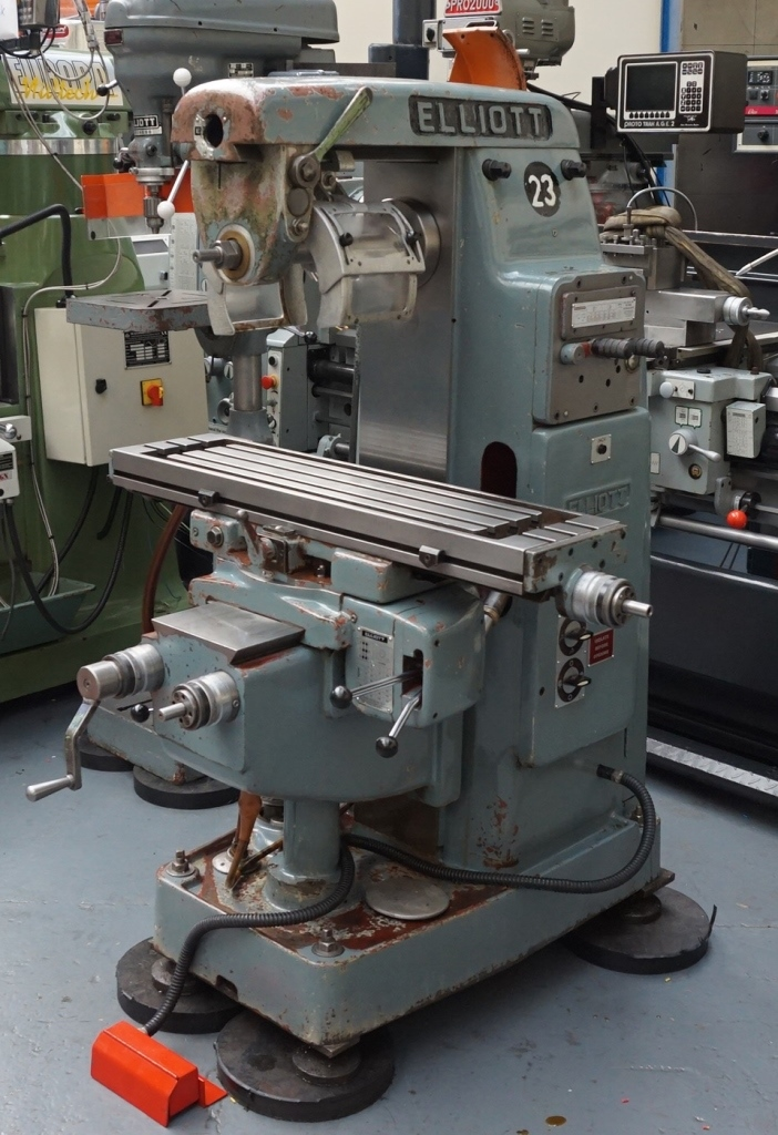 elliott ui universalhorizontal milling machine