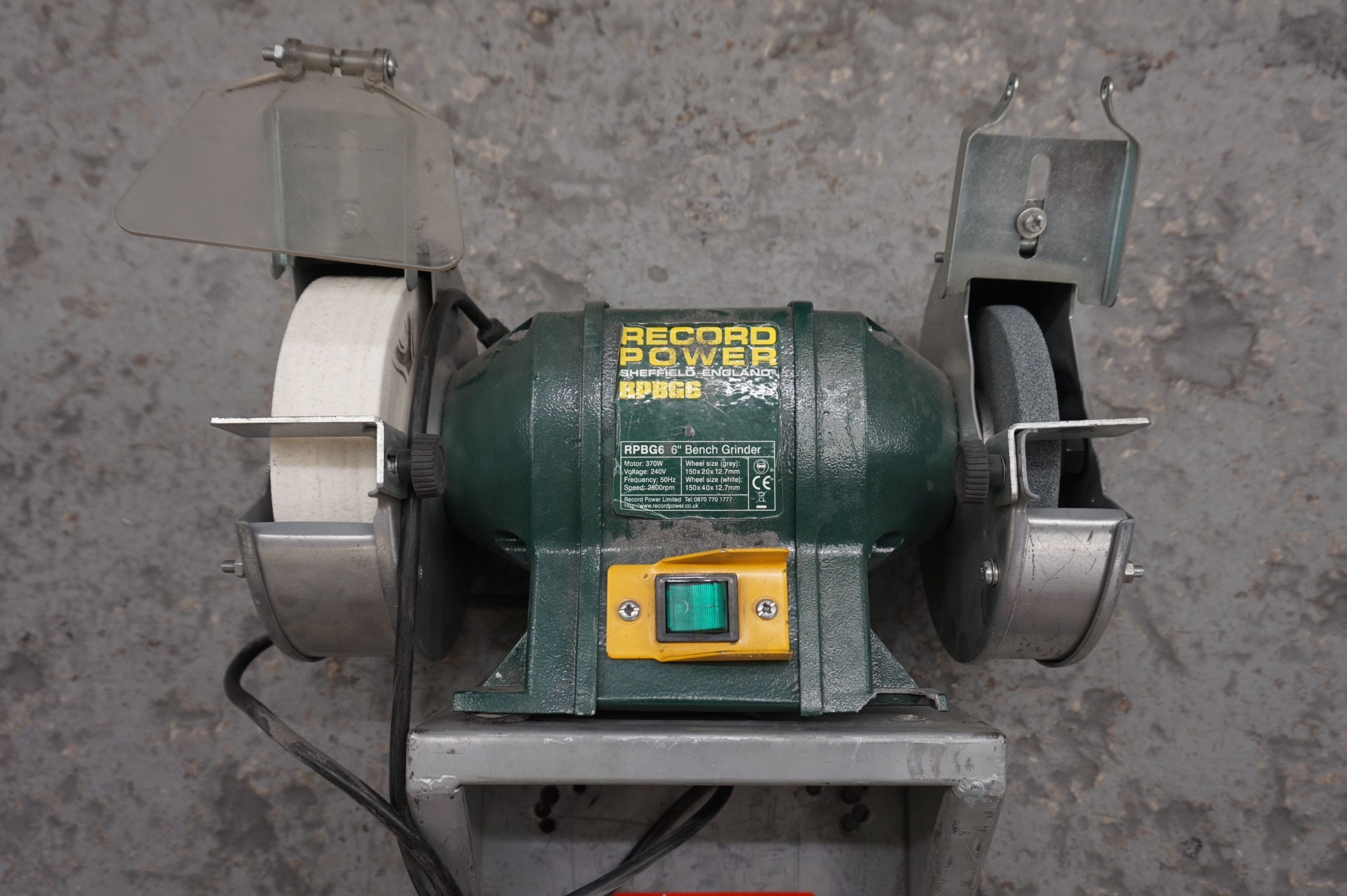 6 Record Power Bench Grinder