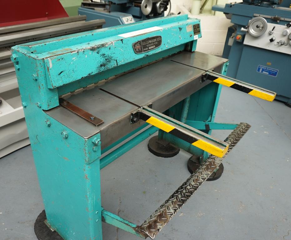Edwards Treadle Type Sheet Metal Guillotine