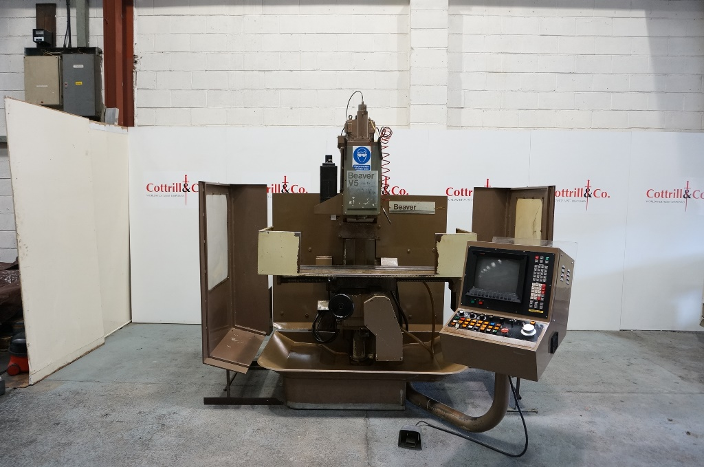 Beaver Type V5 Vertical CNC Mill with Fanuc 6m Control
