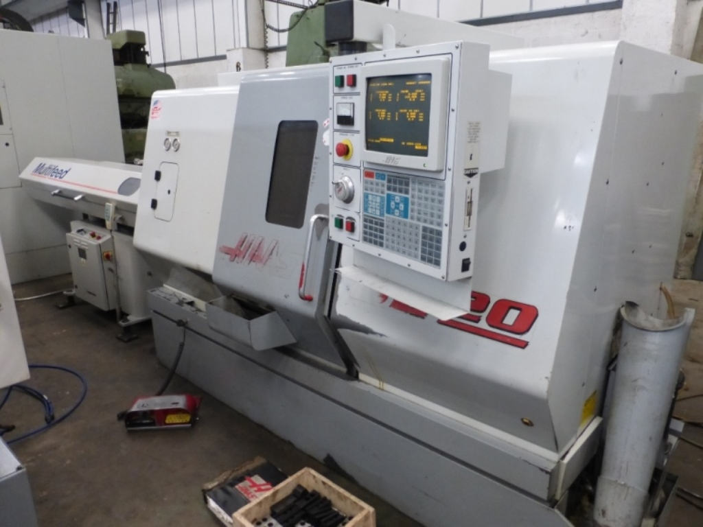 Haas SL-20 TCE CNC Lathe with Haas Control on