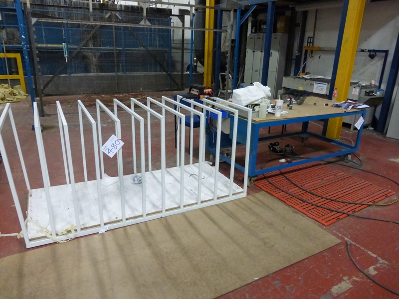 2 Inspection Storage Benches Mobile Steel Table