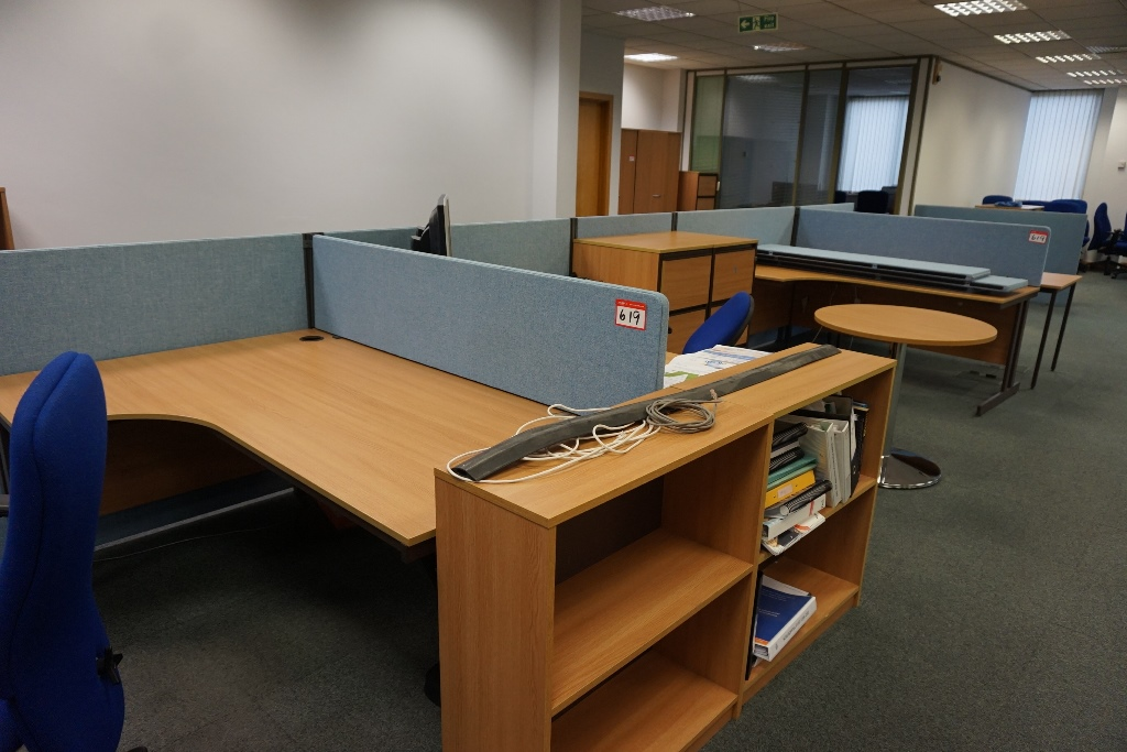 Qty of office furniture including 4 desks for Furniture 4 a lot less