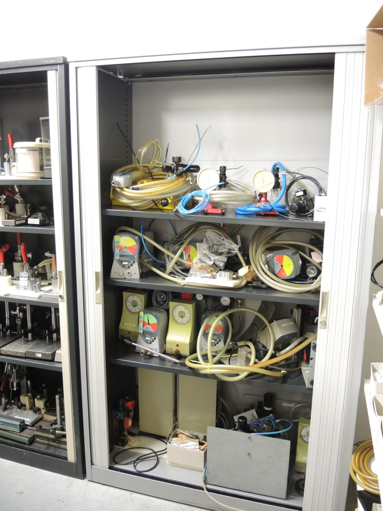 Contenet Of Room Measurement Tools And Spare Parts Cabinet