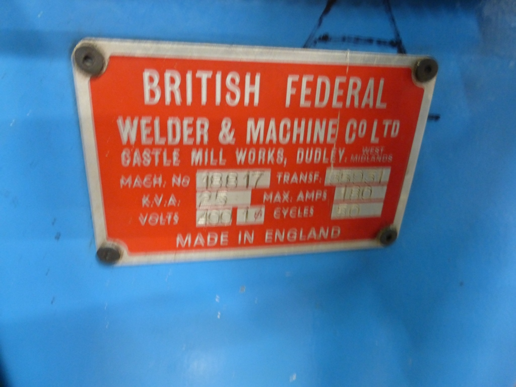 british federal spot welder manual
