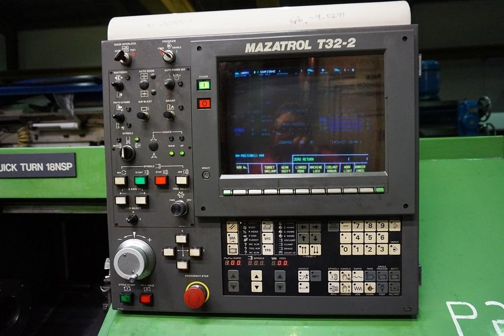 mazak quick turn 18nsp cnc lathe with mazatrol t32 2 control rh cottandco com mazatrol t32b manual