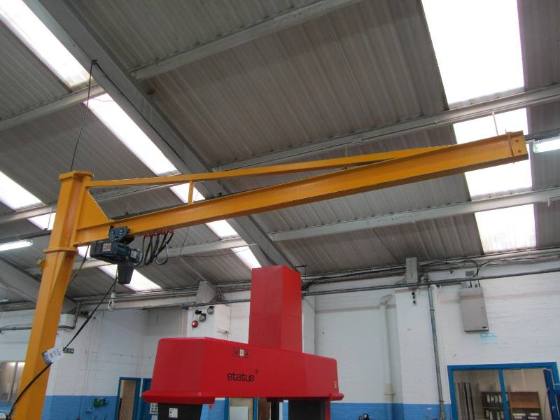 Swing Arm Hoist Mount : Floor mounted swing jib crane kgs